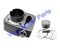 Motorcycle Cylinder And Piston Kit Dia 56.5mm 67.95mm Height