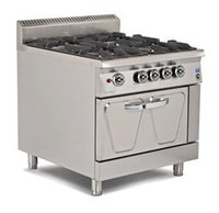 Gas 4 Burner Range With Oven