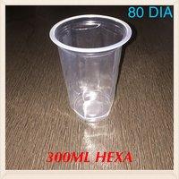 Cold Drink Plastic Glass (300ML Hexa)