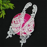 Fancy Neck Embroidery Lace Collar Appliques