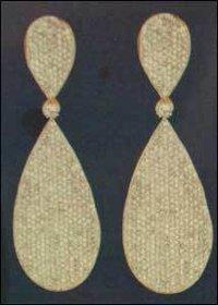 White Designer Hanging Earring