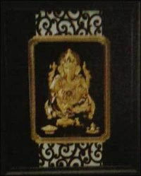 Ganesha (Black) Small Solid Carving Frame