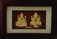 Golden Mini (Solid) Laxmi Ganesh Pair