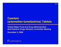 Coartem (Artesunate-Lumefantrine) Tablets