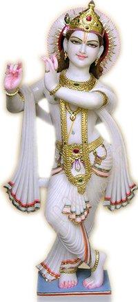 God Krishna Stone Statue