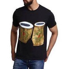 Black Tabla Design T-shirt