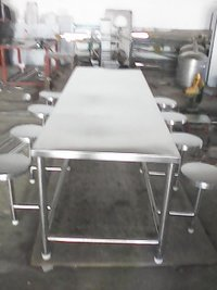8 Seater Steel Dining Table