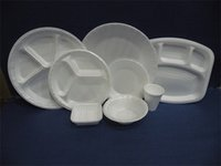 Thermocol Cups Glass And Plates