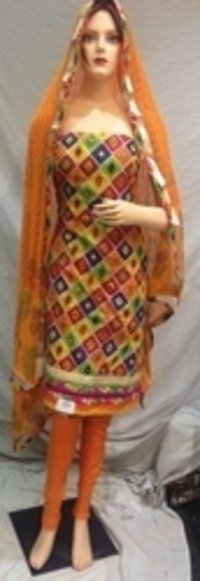 Punjabi Chanderi Suit