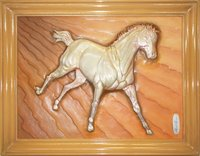 Horse Metal Relief Sculpture