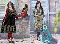 Designer Chanderi Cotton Ladies Dress Material Fabrics