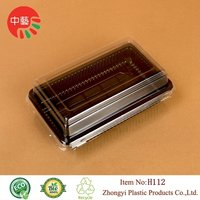 Takeaway Plastic Packaging Cake Box With Lid