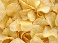 Packaged Raw Potato Chips
