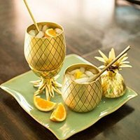 Pineapple Shape Brass Beer Mugs