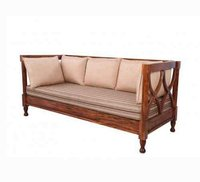 Carver Wooden Three Seater Sofa