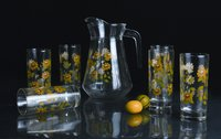 Moriste Lemon Drinking Glasses Set