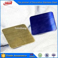 Satin Blasting And Hairline Ti-Brass Finish Stainless Steel Decorative Sheet