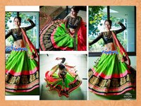 Designer Indian Green And Pink Ethnic Partywear Wedding Lehenga