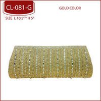 Gold Beaded Clutch Bags