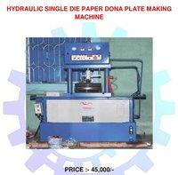 Hydraulic Single Die Paper Dona Plate Making Machine