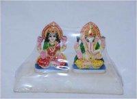 Marble Lakshmi And Ganesha Statue