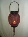 Beaded Red Lamp