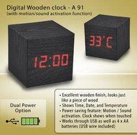 Digital Wooden Clock A-91