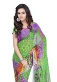 Fabdeal Daily Wear Multicolor Floral Print Chiffon Saree