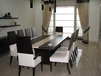 Stylish Wooden Dining Table Chairs Set