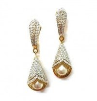 Silver Fashionable Hanging Earrings