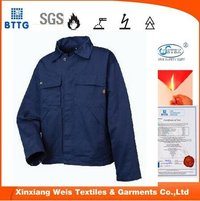 100% Cotton Fire Resistant Jacket Work Clothes For Men