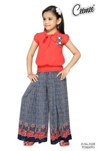 Indian Fancy Design Girls Plazo Dress