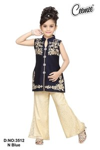 Girls Fancy Plazo Dress Set