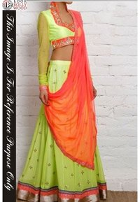 Light Green Bollywood Lehenga