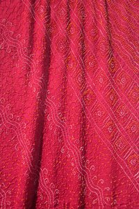 Crepe Silk Bandhani Saree In Red