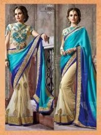 Georgette Satin Saree