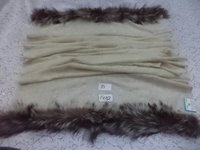 Pure Wool With 2 Side Fur Trim Shawls