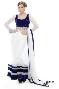 Women Indo Western Dress And Raw Silk Pants