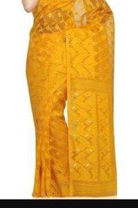 Dhakessori Yellow Saree