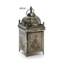 Pewter Antique Moroccan Lantern