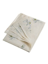 Organic Elephant and Baby Flat Cot Bed Sheet