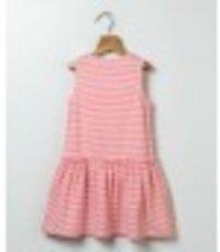 Laced Neck Jersey Stripper Dress