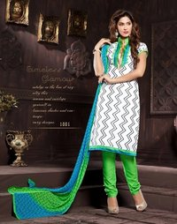Fancy Churidar Ladies Dress Material Fabrics