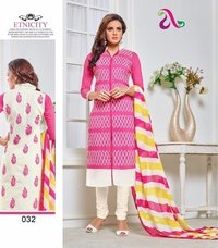 Ladies Chanderi Salwar Kameez Suit