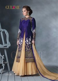 Lehenga Style Wedding Ladies Gown