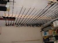 Ceiling Mounted Fishing Rod Holder