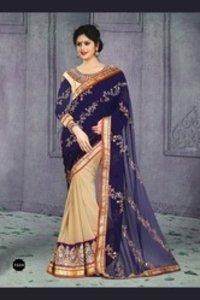 Fashionable Work Blouse Saree -v2031