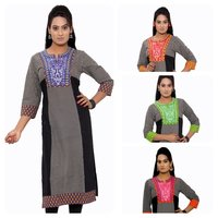 Ladies Cotton Fancy Long Kurtis