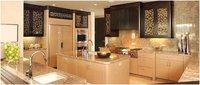 Modular Kitchen Cabinet In Maple Wood