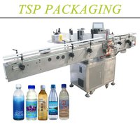 High Servo Motor Automatic Wrap Around Bottle Sticker Labeling Machine